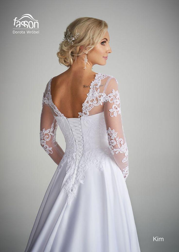 Kim tył suknia ślubna