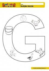 G - 010 - Fise de lucru cu litere de tipar G