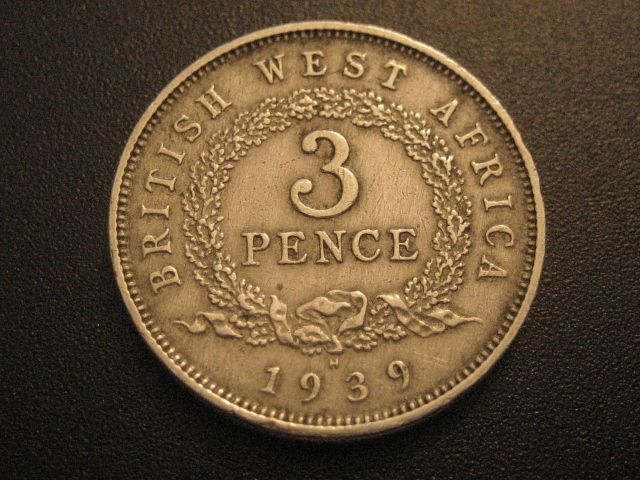BRITISH WEST AFRICA 1939-W 3 PENCE