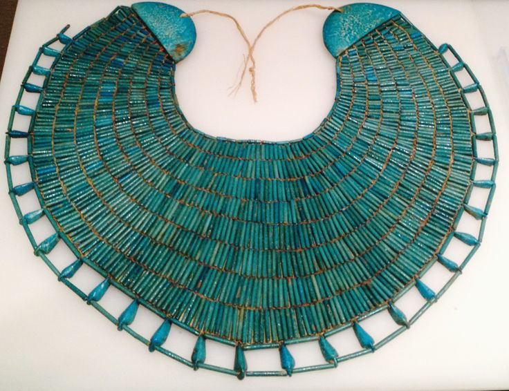 Turquoise collar - Ancient Egyptian jewellery exhibited at the Metropolitan Museum, NYC