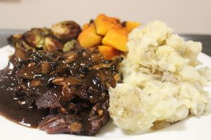 Balsamic slow roasted beef
