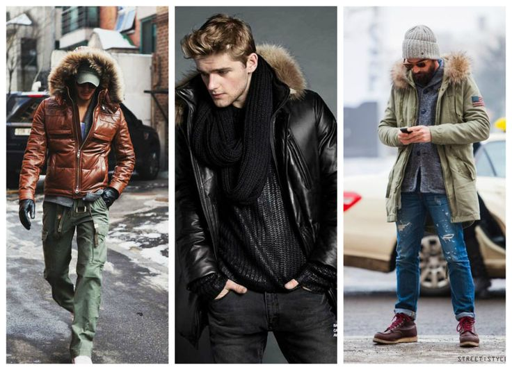 Fall, winter outfit for men - jacket with fur.