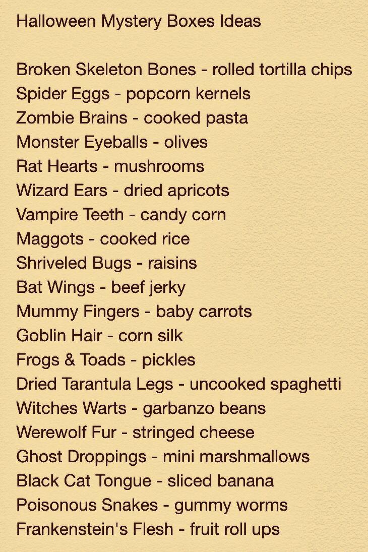Halloween Mystery Box Ideas