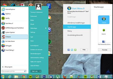 Startmeny i Windows 8