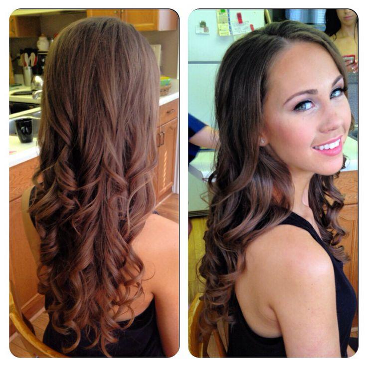 Loose Curls Long Hair Virgin Hair Beautiful Bridesmaid Downdo Down Do Wedding Party Hairstyle By