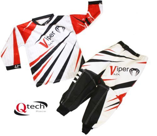 Kids CHILDRENS Motocross KIT Shirt Trousers Race MX Quad OFF Road Honda RED