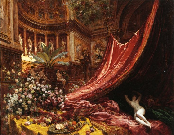 The Athenaeum - Symphony in Red and Gold (Louis Beroud - 1895)