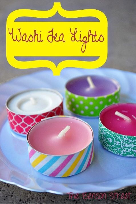 Ducktape candles | Diy   Attn: Laura Stevenson!!!!
