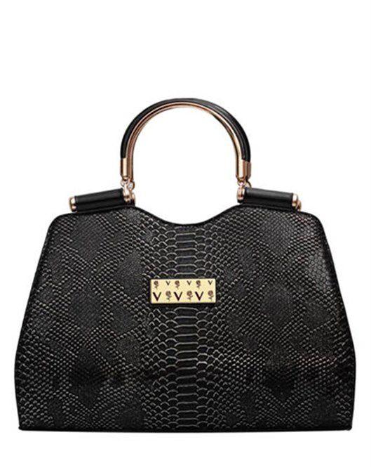 Siyah Bayan El Çantası www.fashionturca.com