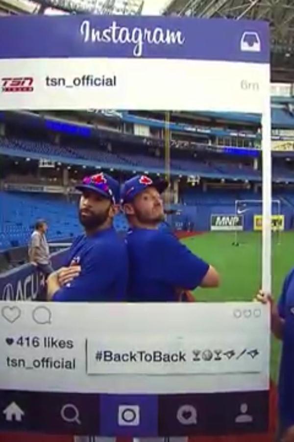 José Bautista❤️ & Josh Donaldson❤️ #BlueJaysBaby #BackToBack