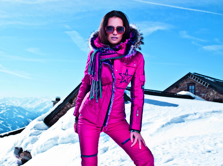 pink peruvian ladies ski jacket aspen ski winterfashion