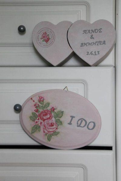 """Wedding ring box & sign """"I DO"""" #vintage #wedding #ido #decoupage"""