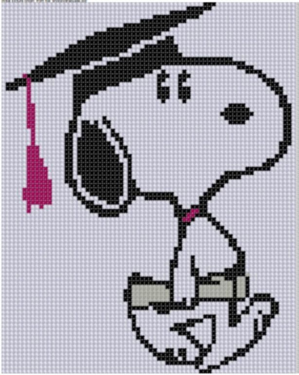 Looking for your next project? You're going to love Snoopy Graduate Cross Stitch Pattern by designer bracefacepatterns. - via @Craftsy