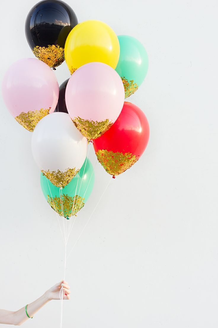 #DIY : Confetti Dipped Balloons. Party. Unicorn Fun.