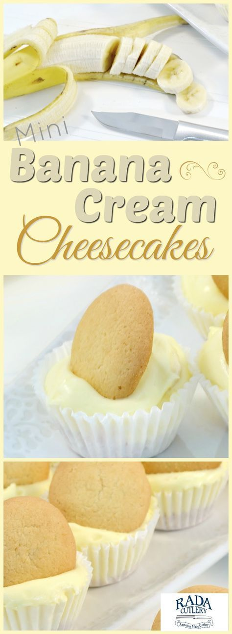Looking for a cool dessert that's delicious, original, and easy to make? Then look no further than these amazing mini-banana cream cheesecake pies! Featuring banana pudding, banana slices, and vanilla wafers, these are as refreshing and fun as they are delicious! #cheesecake #banana #recipe