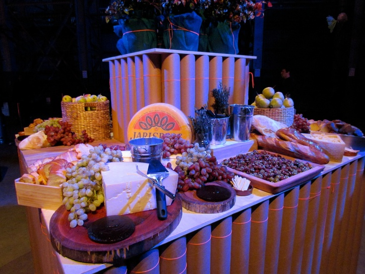 Delicious cheese stand by Adele for Biennale of Sydney opening party