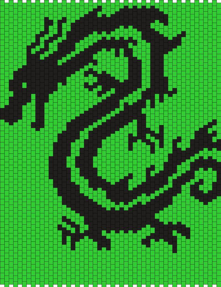 Tribal_Dragon_Panel by Pyroklastos on Kandi Patterns