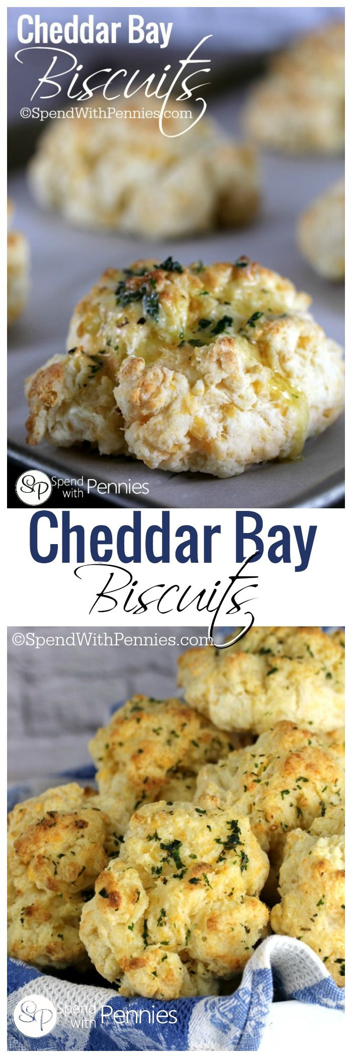 Cheddar Bay Biscuits two ways!  Deliciously fluffy, buttery and garlicky!  These are a snap to make!