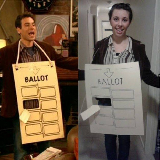This last-minute hanging chad from How I Met Your Mother. | 23 Ridiculously Clever Halloween Costumes Every TV Lover Will Want