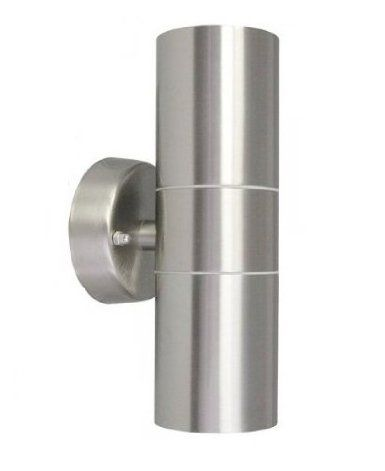 Long Life Lamp Company IP65 Stainless Steel Modern Double Up Down Wall Spot Light