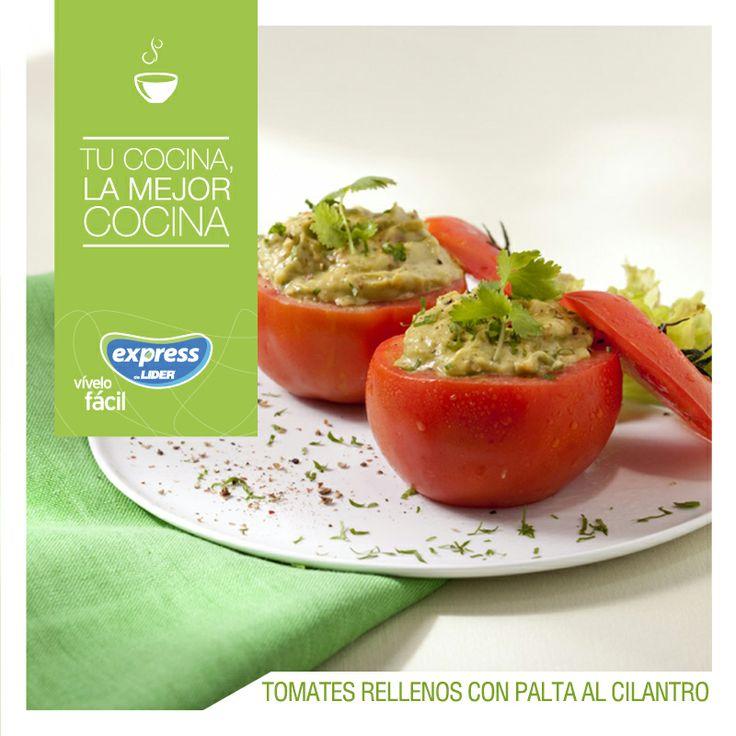 Tomates rellenos con palta al cilantro. #Recetario #Receta #RecetarioExpress #Lider #Food #Foodporn