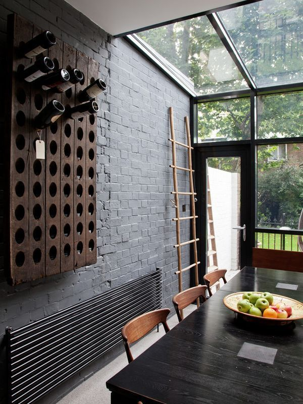 10 Practical And Interesting-Looking Wall Mounted Wine Racks #botelleros verticales