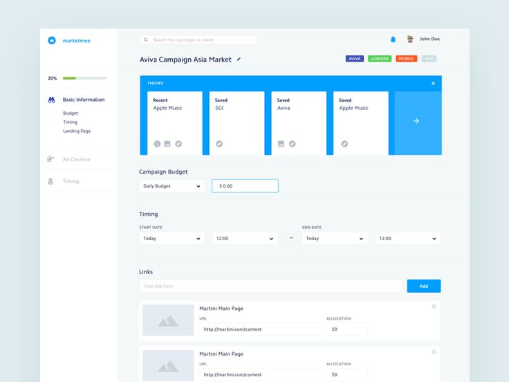 Marketmee is a very simple Ad Bidding Platform.    Here is a first shot – New Campaign Creation. You can always start from Campaign Template, set of saved attributes like budget and timing.   Alter...