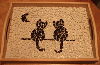 mosaique - mosaique, 2e essai - Plateau - mespetitescreas