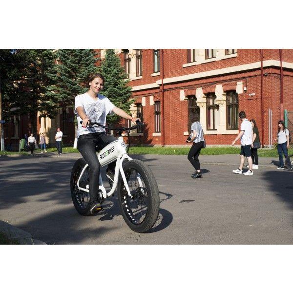 Bizze Cruiser (white) //Electric Cruiser Bicycle by BizzOnWheels