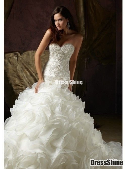 I like this - Gorgeous Trumpet / Mermaid Sweetheart Chapel Train Organza Wedding Dress. Do you think I should buy it?