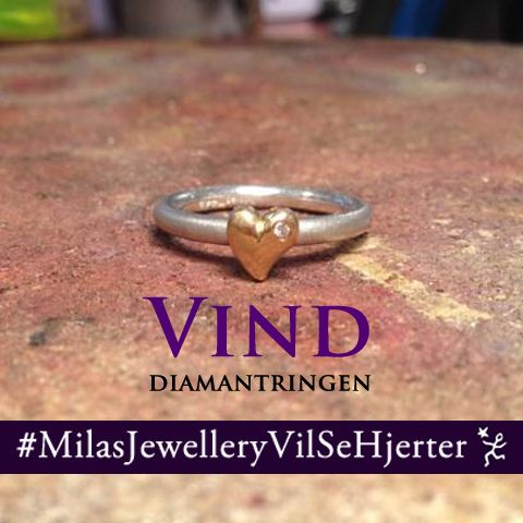 Win a diamond ring - visit Milas Jewellery on instatgam to see more :) Vind en diamantring fra Milas Jewellery - besøg vores instagram for at se mere #MilasJEwelleryVilSeHjerter #milas