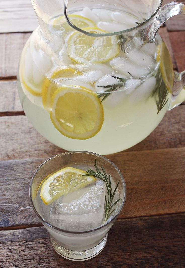 5-6 lemons  3-4 sprigs of rosemary  1 cup sugar  6 cups water. Add some vodka and you've got yourself a party!