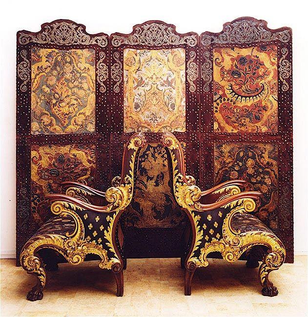 Palacio Güell / Ebenisteria / Conjunto del salón noble del Palacio Güell - Colección Privada