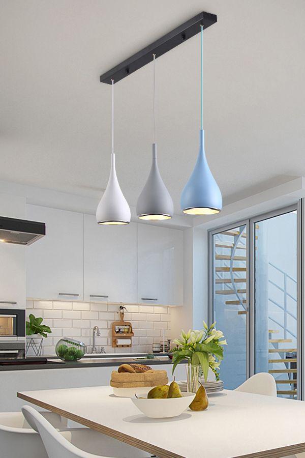 Modern Simple Pendant Lights Minimalist Led Hanging Lamp Kitchen