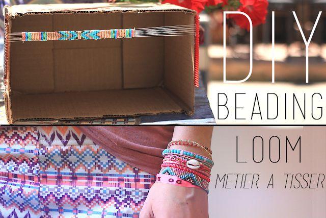 DIY | Do it yourself | By Isnata Fabriquer son propre métier à tisser avec une boite à chaussure et deux peignes !