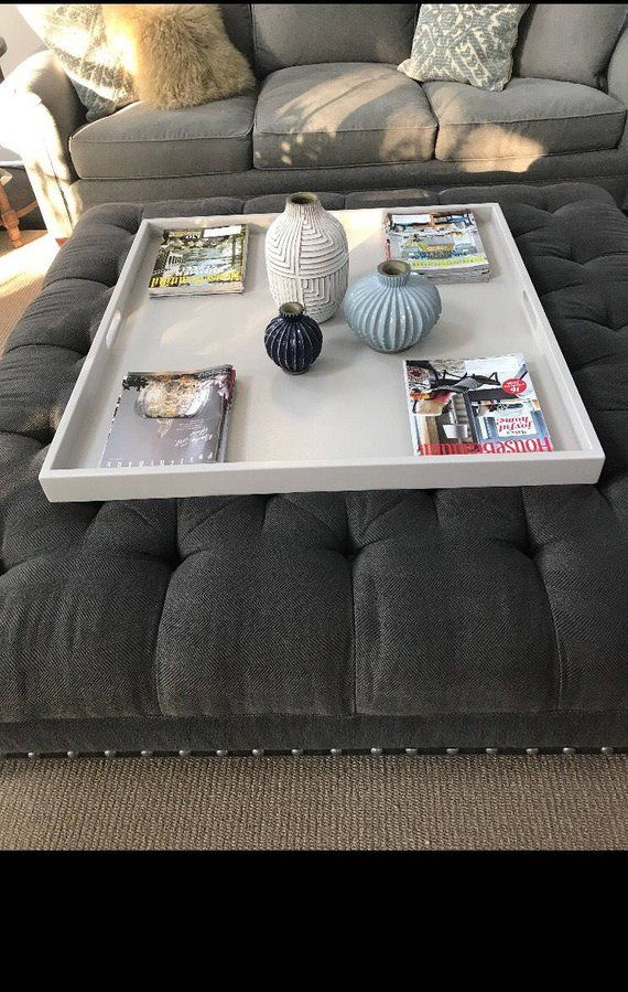 Large Ottoman Tray Coffee Table Tray Wood Free Shipping Tray