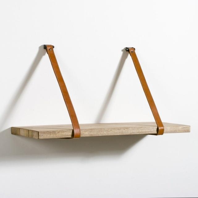Leather -★- wood / shelf