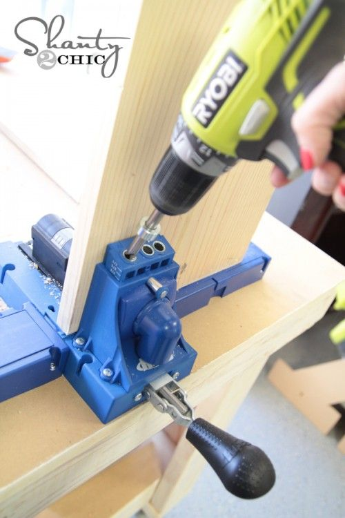 Use a Kreg Jig® K5 to build a Pottery Barn Knock-Off Bench.