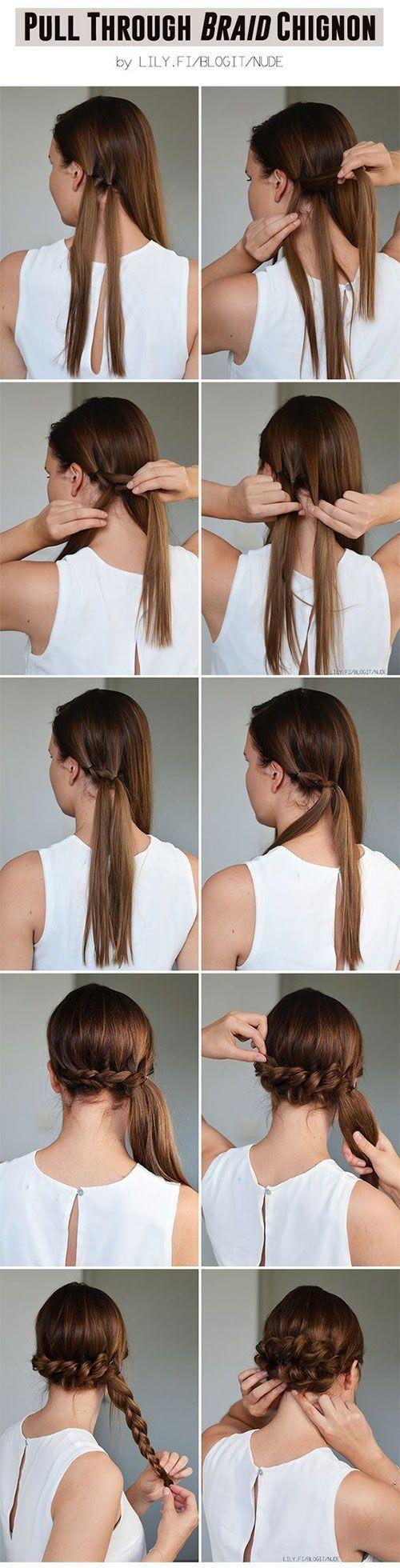 Hochsteckfrisuren für Mädchen mit langen Haaren - Einfache Frisur Anleitung für