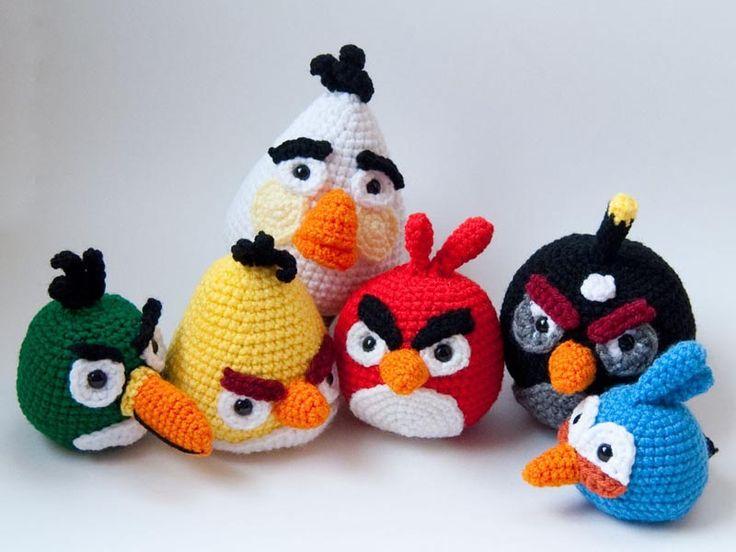 La colección de muñecos Angry birds. Adquierelos por separado o la colección completa.
