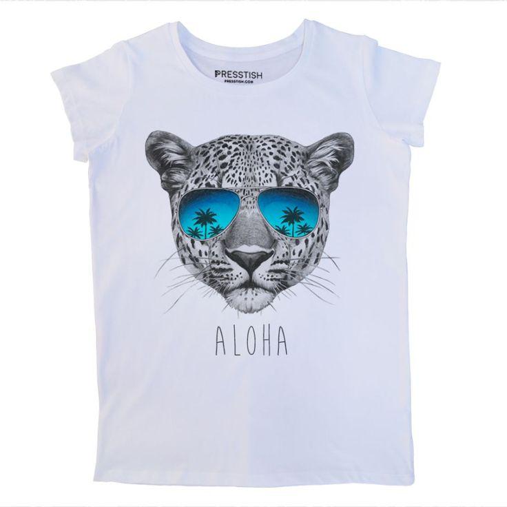 Aloha - Beyaz Kadın Tişört