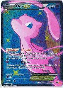 Pokemon Card Legendary Treasures Rare Holo FULL ART Mew EX RC24/RC25