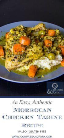 An Easy, Authentic, Moroccan Chicken Tagine Recipe #recipe #easyrecipe #dinnerrecipe #chicken #moroccan #morocco #tagine