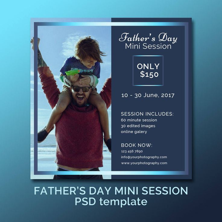 Father's Day Photography Mini Session /Daddy & Me Photography template / Blog template / square flat template by JKBlogBrand on Etsy