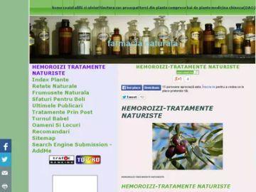 hemoroizi tratamente naturiste