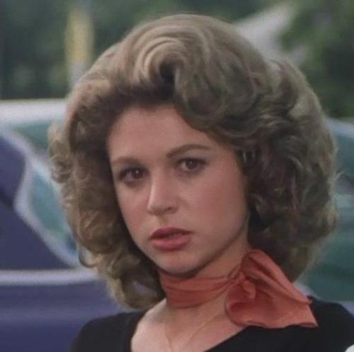 Pink Lady marty maraschino - curled hair, neck scarf