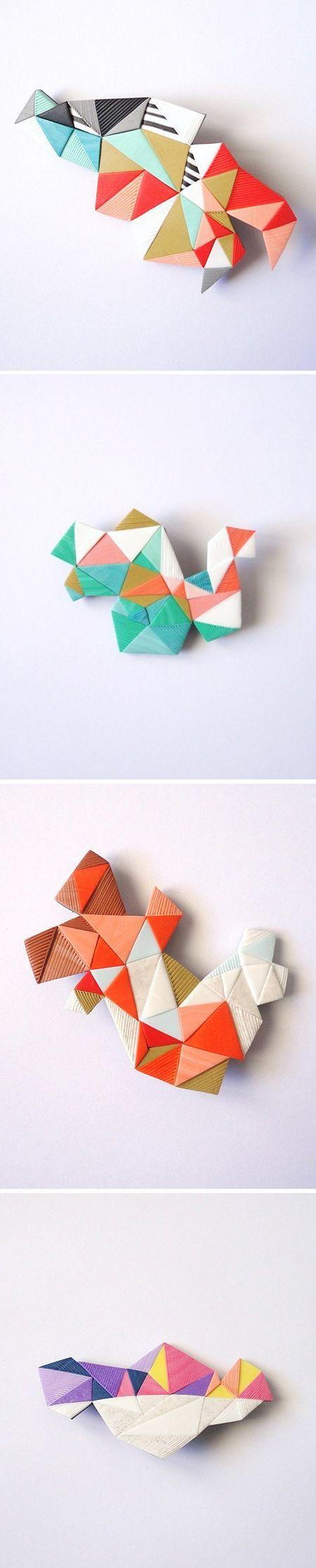 Brooches #art #geo #geometric