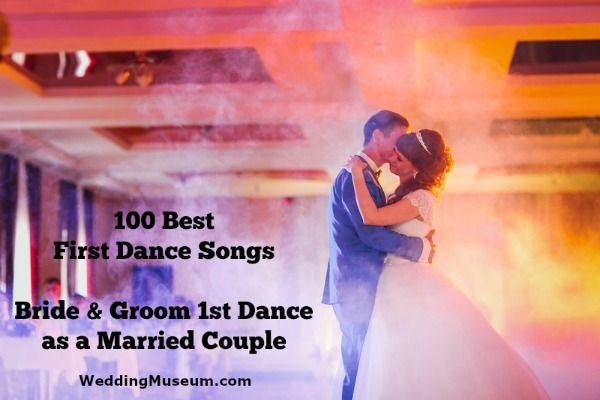 Best 100 wedding first dance songs to be played at weddings for the bride and groom's first dance as a married couple. View top 100+ first dance songs.