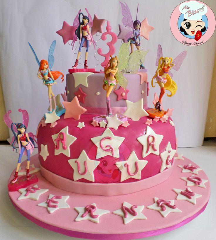 Torta decorata Winx #cakedesign #winx