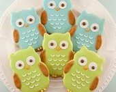 SO cute! Owl Cookies!